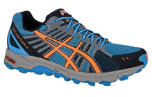 Asics Men's Gel Fujitrabuco blue/flash orange/black